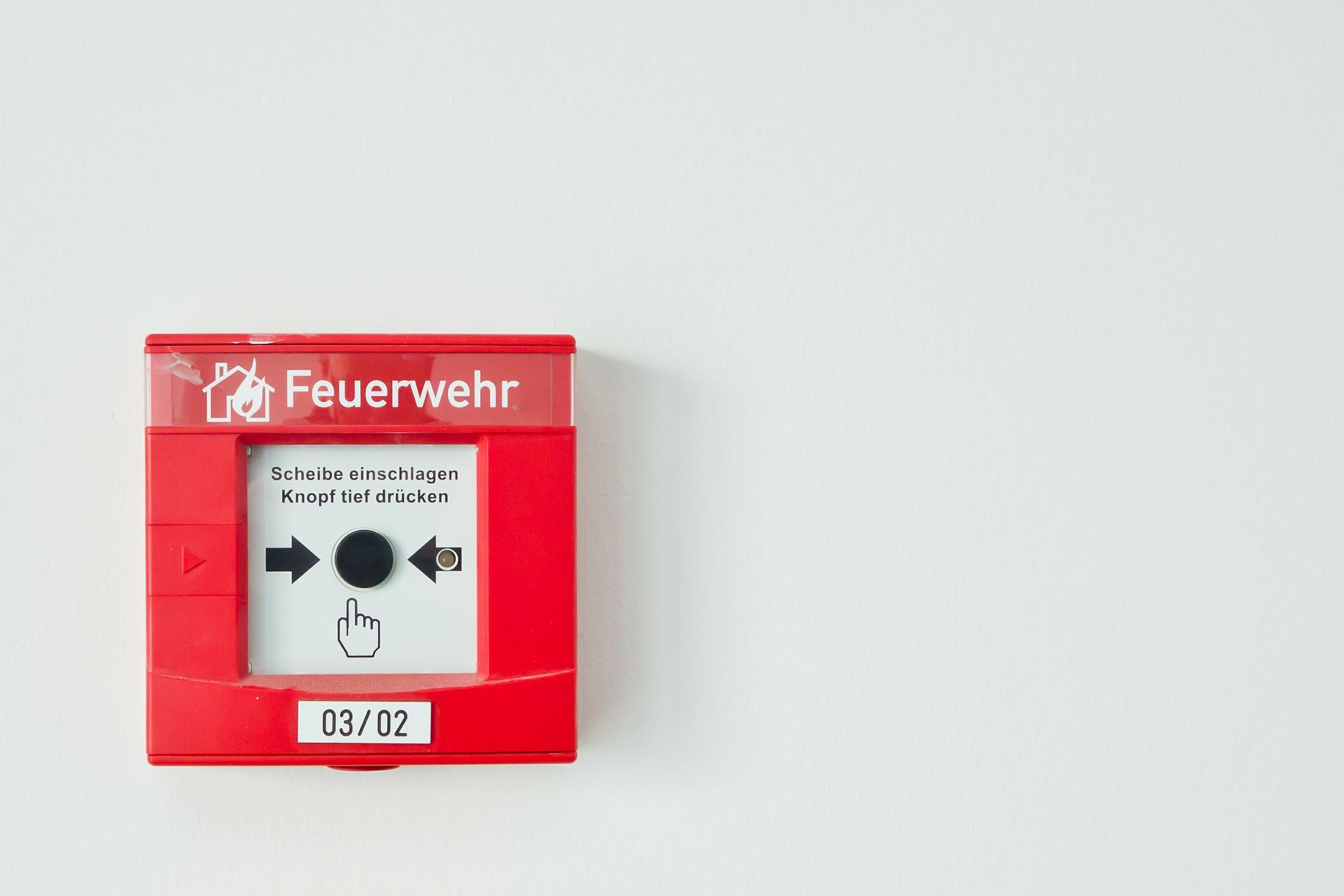 Druckknopfmelder einer Brandmeldeanlage